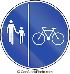 Shared Use Path With Separate Lanes in Chile