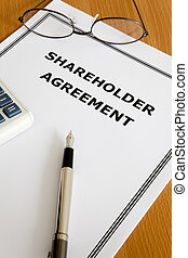 Shareholder Agreement - Image of a shareholder agreement on...