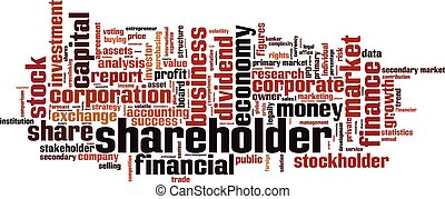 Shareholder.eps - Shareholder word cloud concept. Vector...
