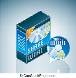 shareware, paquet, logiciel