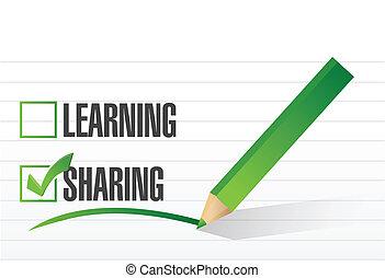 sharing check mark illustration design