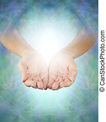 Sharing Divine Healing Energy - Female healing hands...