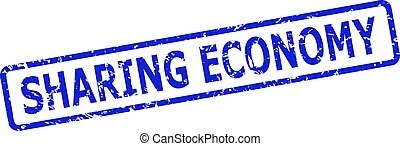 SHARING ECONOMY Watermark with Unclean Surface and Rounded Rect Frame