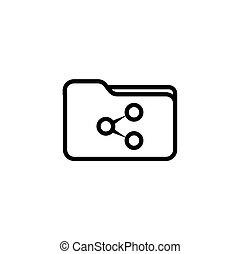 Sharing folder - Flat minimal icon