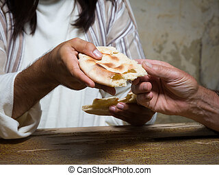 Sharing holy bread