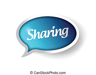 sharing message communication bubble