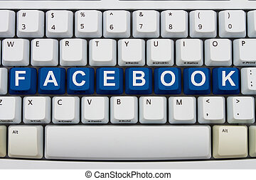 Sharing on Facebook - EDITORIAL USE ONLY Computer keyboard...