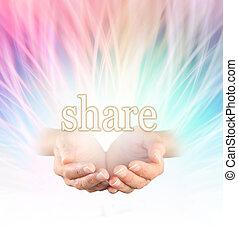 Sharing rainbow reiki healing