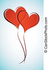Sharing - Two Interlocking Hearts