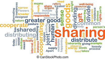 sharing wordcloud concept illustration