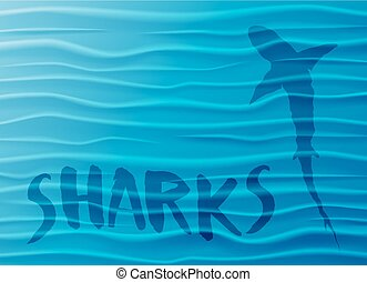 Shark and Blue Waves - mesh - eps10 [Converted]