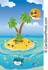 Shark and Tropic Island