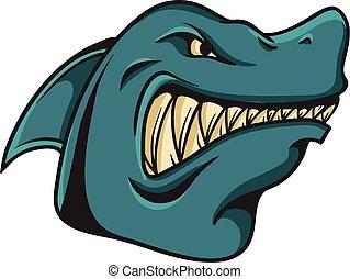 shark animal cartoon mascot