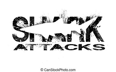 Computer generated shark attacks background