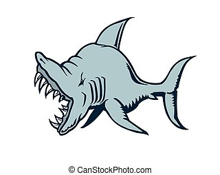 shark cartoon character muscles