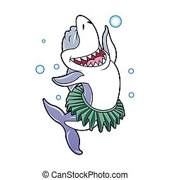 Shark cartoon dancing