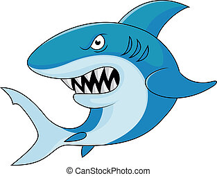 Shark cartoon - Vector illustration of Shark cartoon