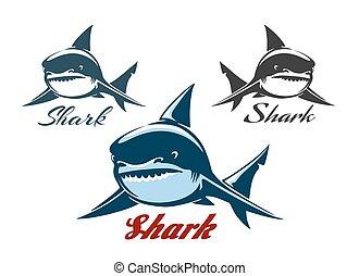 Shark Emblem Set