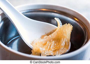 shark fin, soep, chinees voedsel