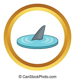 Shark fin vector icon