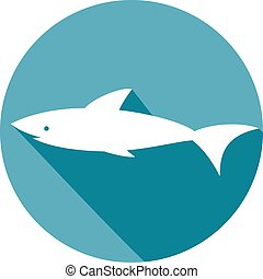 shark flat icon