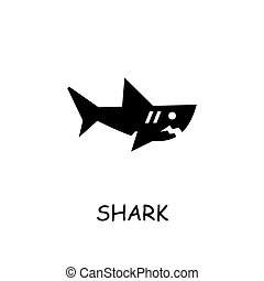 Shark flat vector icon