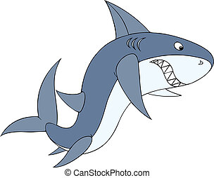 Shark - Great white shark swimming