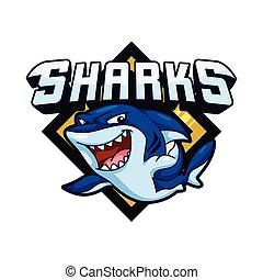 shark illustration design colorful