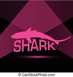 shark in pink illustration