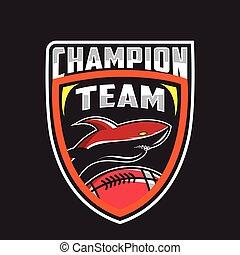 Shark logo for a sport team