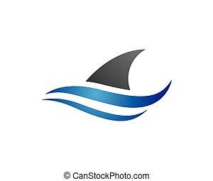 Shark Logo Template vector icon