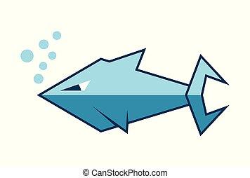 shark logo vector dsign
