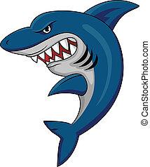 Shark mascot - Vector illustration of shark mascot