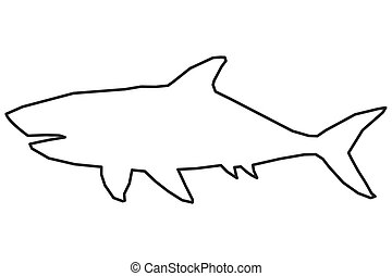 Seahorse clipart shark outline - Pencil and in color seahorse ...