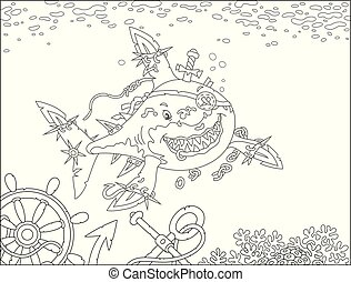 Shark Pirate attacking