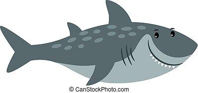 Shark sea animal cartoon icon