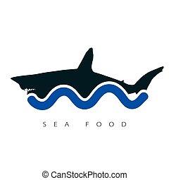 shark sea food illustration