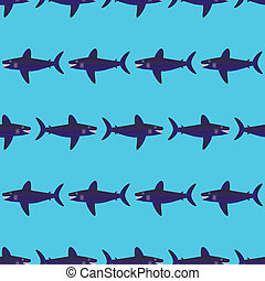 Shark seamless pattern