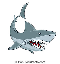 Shark sign isolated vector illustration
