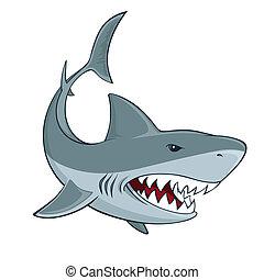 Shark sign isolated vector illustration
