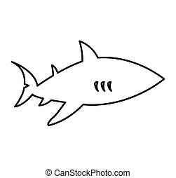 shark silhouette alert icon