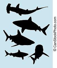Shark silhouettes 01.