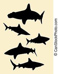 Shark silhouettes 02.