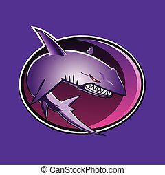 Sharks Circle sticker