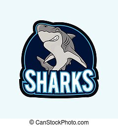 sharks illustration design full colour