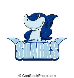 sharks illustration design colorful