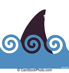 sharks in the sea vector illustration on a color background