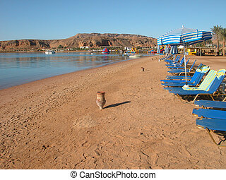 Sharm El Sheikh Beach - Detail of Sharm El Sheikh Beach,...