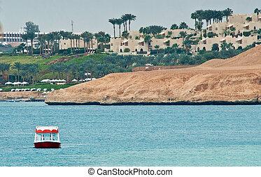 sharm el sheikh, egypt - beautiful beach and ocean in sharm...
