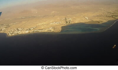 Sharm El Sheikh from plane - View of Sharm El Sheikh from...
